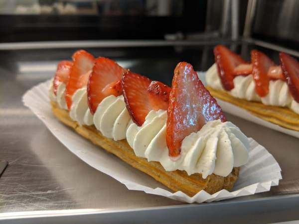 Maison Parisienne pastry with strawberries